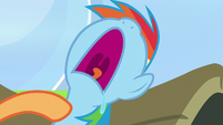 Scootaloo taps on napping Rainbow Dash S7E7