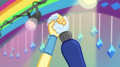 Sour Sweet and Rainbow raise up their hands EGS1.png