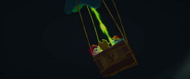 Spike's fire blowing in the makeshift balloon MLPTM