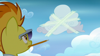 Spitfire watches Vapor speed around a cloud S6E24