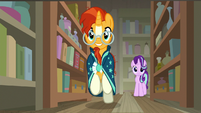 Sunburst galloping down an antique shop aisle S7E24
