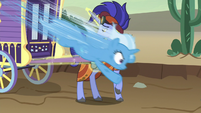 Trixie speeding past Hoo'Far S8E19