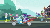 Twilight and Rainbow ride away from school EGDS40