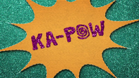 """KA-POW"" text in felt BFHHS1"