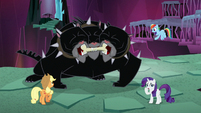 AJ, Dash, Rarity, and Cerberus ready S8E26