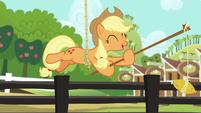 "Applejack ""one time I left it there by mistake"" S6E10"