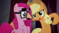 Applejack encouraging Pinkie Pie BFHHS4