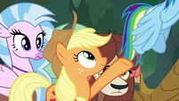 Applejack insists that Rainbow go first S8E9