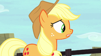 Applejack looking for the Crusaders S5E6