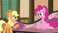 Applejack talking with Pinkie Pie S4E09.png