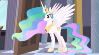 Celestia at the door S4E01