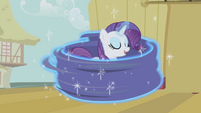 Curtains twirling around Rarity S1E06