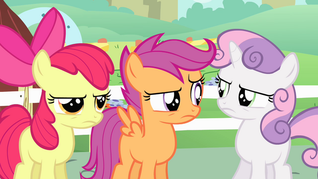 File:Cutie Mark Crusaders unfazed S4E05.png