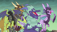 Dragons laughing at Spike S6E5