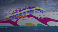 Equestria Girls at the ship's starboard side EGSB