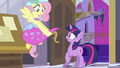 Fluttershy with bridesmaid dress S2E25.png