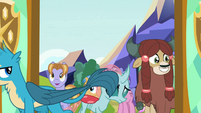 Gallus and Ocellus entering the school S8E1