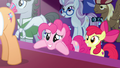 Pinkie Pie eagerly awaits Applejack's decision S7E9.png