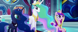 "Princess Cadance ""arriving from all over"" MLPTM"