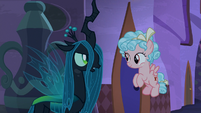 "Queen Chrysalis ""those are new"" S9E17"