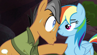 Quibble Pants in Rainbow Dash's face S6E13