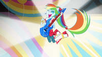 Rainbow Dash in band attire EG2