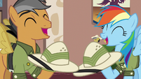 Rainbow and Quibble sharing a laugh S6E13