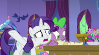 "Rarity ""you haven't been listening"" S9E19"