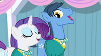 Rarity and Toe-Tapper singing S4E14