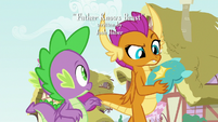 Smolder confused by the gesture S8E24