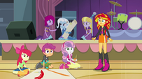 Sunset and Crusaders hear Pinkie's voice EG2