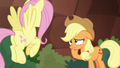 AJ looks embarrassed at Fluttershy S8E23.png