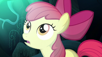 Apple Bloom surprised by Luna's appearance S5E4