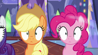 Applejack and Pinkie Pie in a trance S6E21