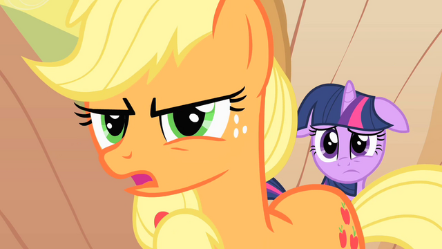Файл:Applejack tries to talk to Braeburn S1E21.png