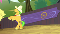 Bushel hurls another hay bale S5E6.png