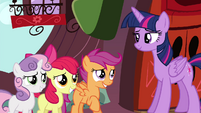 CMC smiling to Twilight S4E15