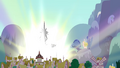 Castle towers over Ponyville S4E26.png