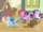 Five main ponies chasing Applejack in a cart S2E14.png