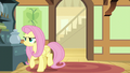 Fluttershy turning away from the den door S6E11.png
