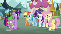 Main ponies meet with Twilight and Spike S8E18