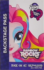 Pinkie Pie Equestria Girls Rainbow Rocks Backstage pass