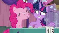 Pinkie Pie happy to help Twilight S9E16