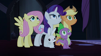Ponies and Spike blank stare S4E03