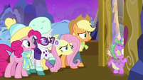 Ponies and Spike hear Twilight scream MLPBGE