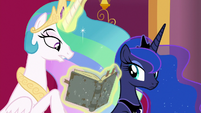 Princess Celestia -somewhere within the pages- S7E25