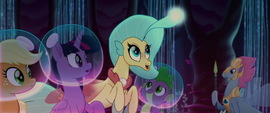 Princess Skystar introduces Mane Six to the queen MLPTM