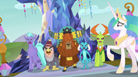 Race leaders march up to Chancellor Neighsay S8E2