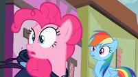 Rainbow Dash and Pinkie Pie staring S02E08