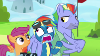 Rainbow Dash embarrassed by Windy Whistles S7E7